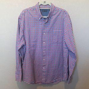 Arrow blue/red button down shirt XLarge